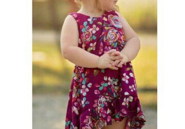 ชุดประโปรงเด็กหญิง ลายดอกไม้
